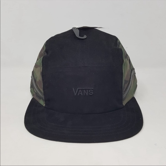 3493b792aea Vans Sidestrap 5-Panel Adjustable Hat Camo New